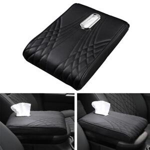 Car SUV  PU Leather Armrest Memory Central Control Pad Foam Cushion Tissue Box