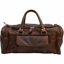 """NEW Vintage Handmade Real Leather Duffle Bag,Gym Bag,Overnight Bag 22"""""""