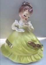 Vintage Rare Josef Originals California Tea Time w/yellow Dress Very Htf PreOwn