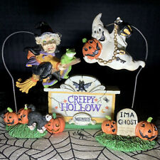 Creepy Hollow Midwest Of Cannon Falls Monument Sign Flying Ghost Witch Accessory