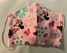 Handmade face masks - Minnie Mouse & Flowers Print