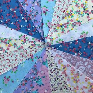 20ft / 6m FABRIC CLEARANCE BUNTING.FLORAL SHABBY CHIC.HANDMADE.WEDDING.GARLAND.