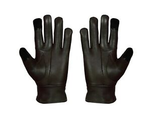 Ladies Woman's Leather Touch Winter Warm Fleece Lined Gloves Thermal Party New