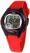 Casio Girls Junior Digital & Alarm Red Resin Strap Watch LW-200-4AVDF