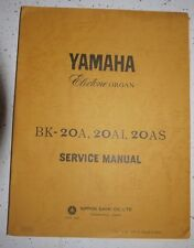 Yamaha Electone Organ Bk-20A, Bk-20Ai, Bk-20As Service Manual