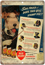 "Red Heart Dog Food Schnauzer Vintage Ad 10"" X 7"" Reproduction Metal Sign N364"