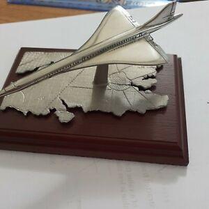 English Miniatures Fine Art Sculpture Pewter CONCORDE London SE flightpath