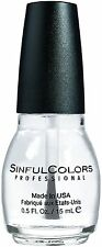 Sinful Colors Professional Nail Polish, Clear Coat 0.50 oz (Pack of 9)