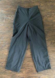 Womens Dryjoys By Foot joy Adjustable Waist Golf Rain Pants Black Size M