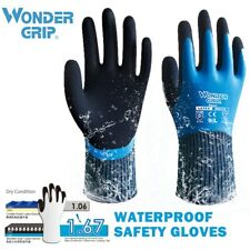 Wonder Grip Safety Work Gloves Fully Dipped Waterproof Cold Proof Gloves Wg318
