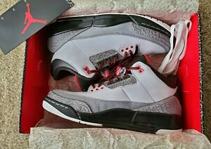 Men's Air Jordan Retro 3 Grey Size 11.5