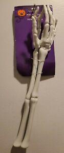 Halloween Skeleton Hand Tongs Serving Utensils Tableware Party Light gray