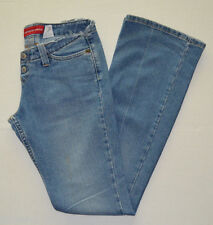 Juniors Levis Blue Denim Casual Too Superlow Stretch Flare Jeans Pants Size 3