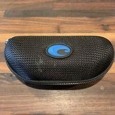 Costa Del Mar Sunglass Case Black Zip Closure Hard Blue Logo Optical - Case Only