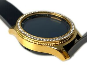 24K GOLD Plated Samsung Gear S3 Classic DIAMOND Rhinestone Bezel Custom