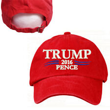 PRESIDENT DONALD TRUMP & PENCE RED CAP HAT 100% COTTON