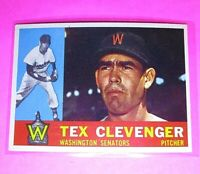 1960 Topps #392 Tex Clevenger Senators NmMt High Grade Sharp!