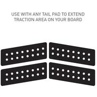 Boomerang 4 Piece Tail Pad In Black From Ocean & Earth Traction Pad