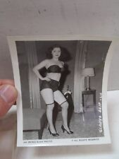 Vintage Irving Klaw Photo Gladys Slip #24 B&W Pin Up Stockings Underwear Risqué