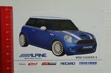 Autocollant/sticker: Mini cooper s-Alpine pneus-recaro-EIBACH (140416166)