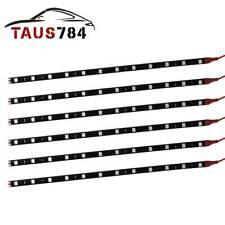 New listing 6 Pcs 30Cm 5050 Smd Red Soft 12 Led Strip Light Waterproof Car Boat Truck 12V