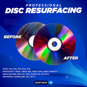 1-5 Disc Resurfacing Service Fix Scratched Media DVD Blu-Ray PS XBOX Wii & More