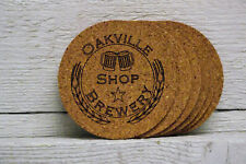 Cork coaster set personalized custom engraved text on logo. Great gift