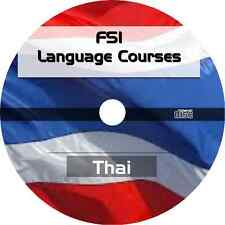 * LEARN TO SPEAK THAI LANGUAGE * FSI TRAINING COURSE * MP3 AUDIO PDF on CD *