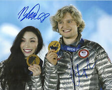 CHARLIE WHITE & MERYL DAVIS '14 OLYMPICS' GOLD MEDAL SIGNED 8X10 PICTURE *COA 1