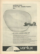 Publicité Advertising 1960  VERRES VARILUX lunette optique