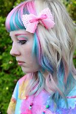 PINK LITTLE BOW HAIR CLIP SPOTTY - EMO SCENE GOTH LOLITA KAWAII