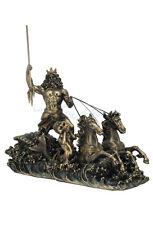Poseidon On Hippocampus Chariot Nautical Statue Sculpture Figure