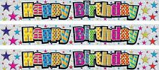 HAPPY BIRTHDAY MULTI COLOUR FOIL BANNER (SE)