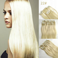 18 INCH  Hair Extensions Clip in 100% Remy Human Hair 7pcs 15 Colors 70g 100g