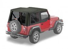 Jeep Wrangler TJ Black Replacement Soft Top w/ Upper Door Skins & Tinted Windows
