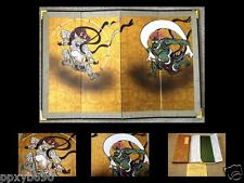 Miniature folding screen God of the wind and god of thunder by Sohdatsu tawaraya