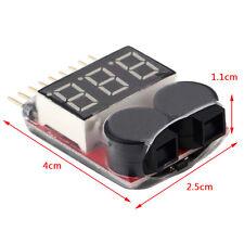 Low Voltage Lipo Tester Warner Buzzer Batterie Spannungstester Alarm Pieper 2-8S