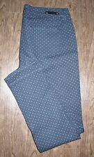 Royalty by YMI Size 34x30 Womens Navy Blue with Pink Polka Dot Skinny Jeans