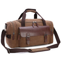 Canvas Travel Men's Weekend Gym Duffle Bag Shoulder Strap Tote Luggage Overnight