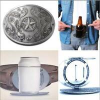 Metal Star Beverage Beer Can Bottle Holder Belt Buckle Belts Buckles