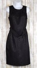 JONES STUDIO BLACK BELTED DRESS SLEEVELESS SIZE 8
