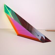 Vasa Mihich Modern Lucite Sculpture Signed Acrylic Color Triangle Op Art 2012