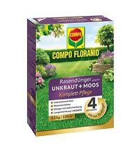 COMPO Floranid® Rasendünger gegen Unkraut und Moos 4in1 Komplettpflege, 4,5 kg
