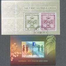 Australia-Victoria Cross & Anzac 2 min sheets fine used-cto 2015