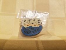High Roller Dice Gambler Gambling Snake Eyes Collector's Souvenir Pin