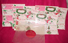 Lot 46 Vtg Christmas Gift Tags Present Label Sticker Card Seals To From 1960's