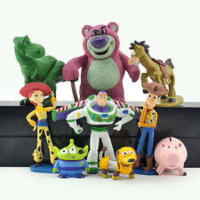9PCS TOY STORY WOODY JESSIE BUZZ REX ACTION FIGURE COLLECTION CAKE TOPPER DECOR