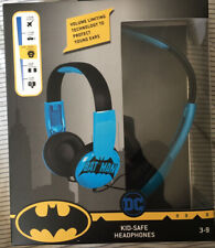 Batman Kid Safe Headphones NEW! MARVEL ! DC! WIRED ! VOLUME LIMITING!