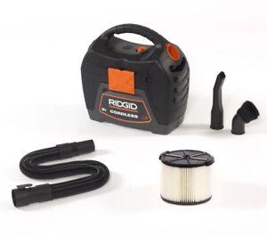 RIDGID Wet Dry Vacuum 18-Volt 60 CFM Powerful Handheld Cartridge Filter Cordless