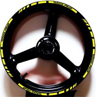 YELLOW GP STYLE CUSTOM RIM STRIPES WHEEL DECALS TAPE STICKERS YAMAHA YZF R6